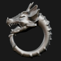 Small Dragon Ring 3D Printing 88510