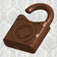 Small Old Padlock Replica 3D Printing 88564