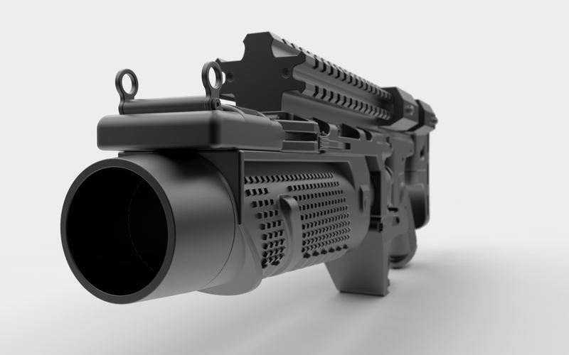 Batman's Grenade Launcher 1:1 scale (Batman vs Superman) 3D Print 88594