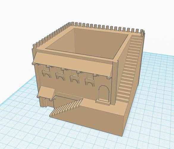 Mini Middle Eastern Villa Planter 3D Print 88608