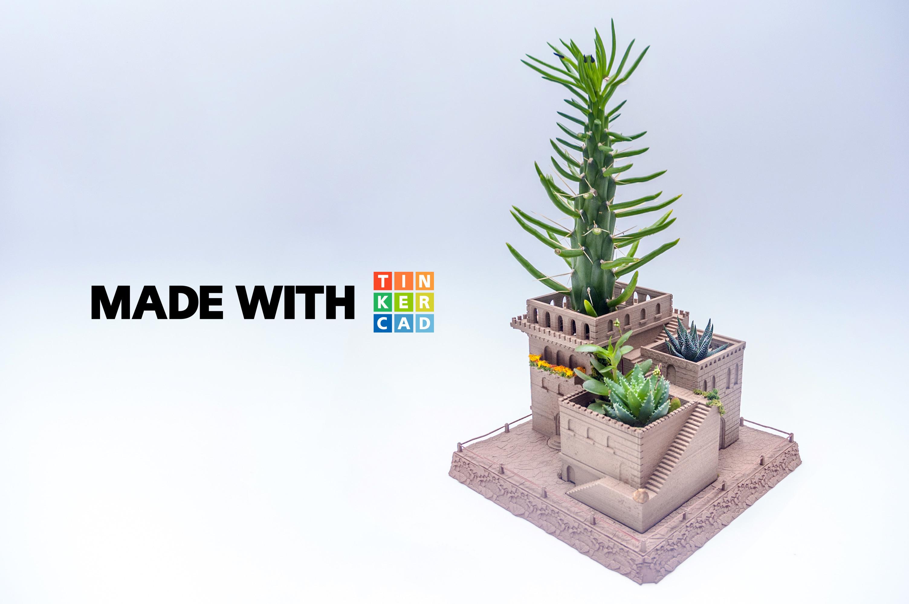 3d printed mini middle eastern villas 3 in 1 planter by yuriysklyar pinshape