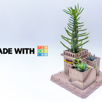 Small Mini Middle Eastern Villas 3-in-1 Planter 3D Printing 88609