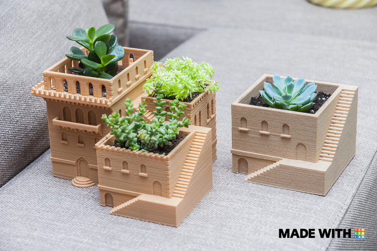 Mini Middle Eastern Villa Planter 3D Print 88628
