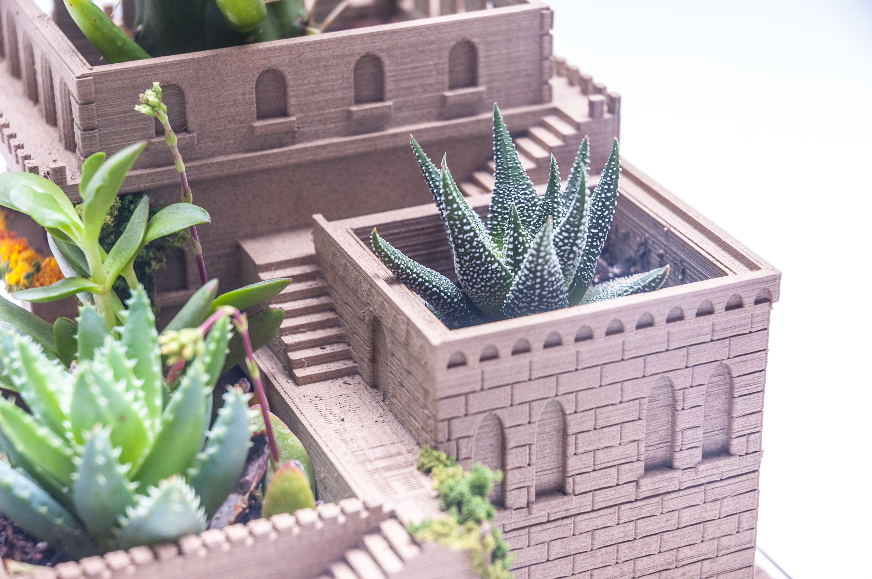 3d printed mini middle eastern villas 3 in 1 planter by yuriysklyar pinshape