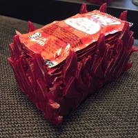 Small Large Taco Bell Fire Sauce Holder 3D Printing 88767