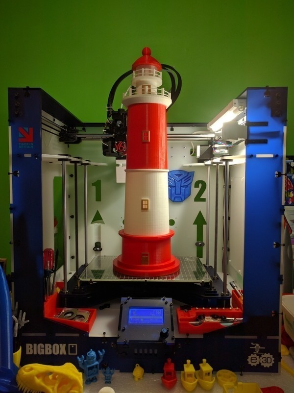 Medium Round Base Lighthouse Model 3D Printing 88789