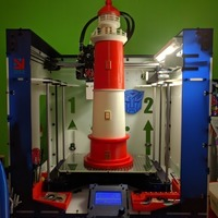 Small Round Base Lighthouse Model 3D Printing 88789