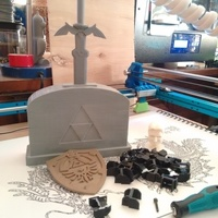 "Small Master Sword ""Stone"" Stand 3D Printing 89104"