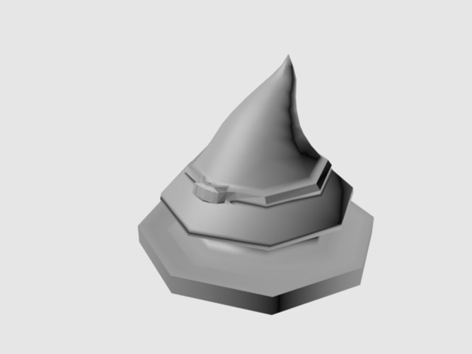Witch hat token 3D Print 89301