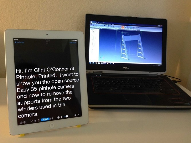 Tablet Teleprompter/Reading Stand 3D Print 89367