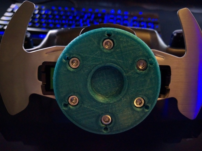 Logitech G27 to Universal Wheel Adapter 3D Print 89428