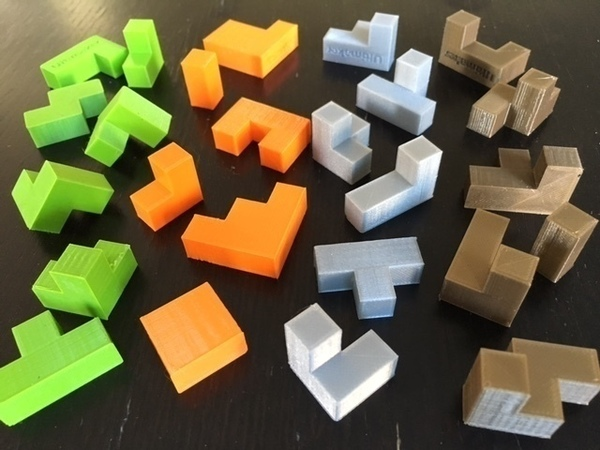 Medium Cube Puzzle Quartet 3D Printing 89430