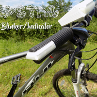 Small Crystal Bike Handle with integrated Blinker/Indicator 3D Printing 89504