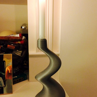 Small Candle stand - wave design 3D Printing 89812