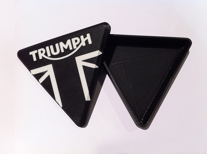 Triumph Motorcycle branded trinket box 3D Print 89824