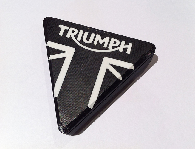 Triumph Motorcycle branded trinket box 3D Print 89825