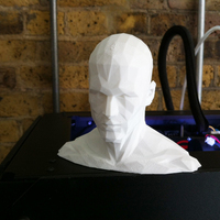 Small Low poly HEAD - remix 3D Printing 89827
