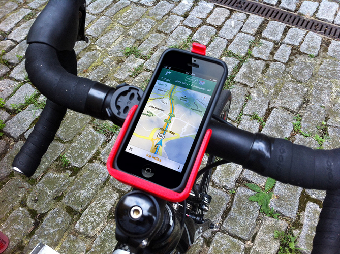 Iphone5 bike phone mount - remix 3D Print 89834