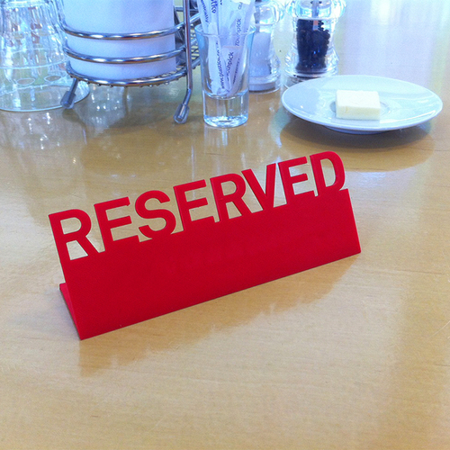 Table Reserved sign 3D Print 89844