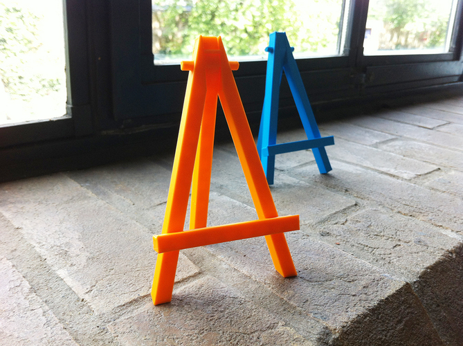 Mini caballete easel - prints in one piece 3D Print 89857