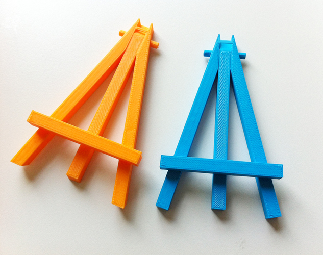 Mini caballete easel - prints in one piece 3D Print 89858