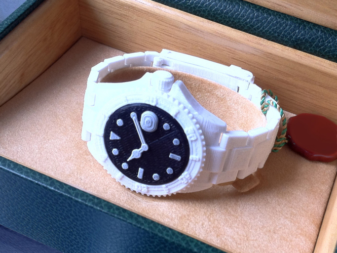 Divers Watch v2     Fully jointed with working bezel  3D Print 89869