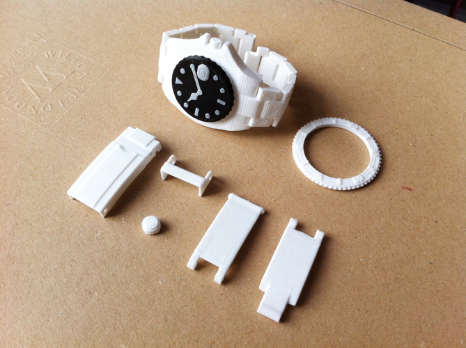 Divers Watch v2     Fully jointed with working bezel  3D Print 89870