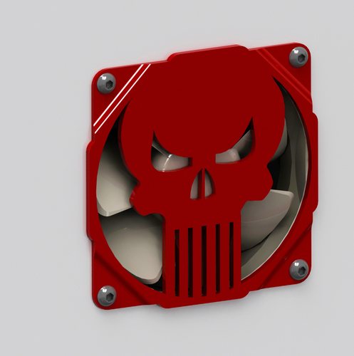 The punisher skull fan grill 120mm - griglia ventola teschio 3D Print 89997