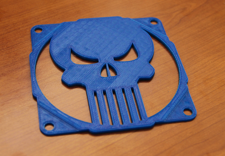The punisher skull fan grill 120mm - griglia ventola teschio 3D Print 89998