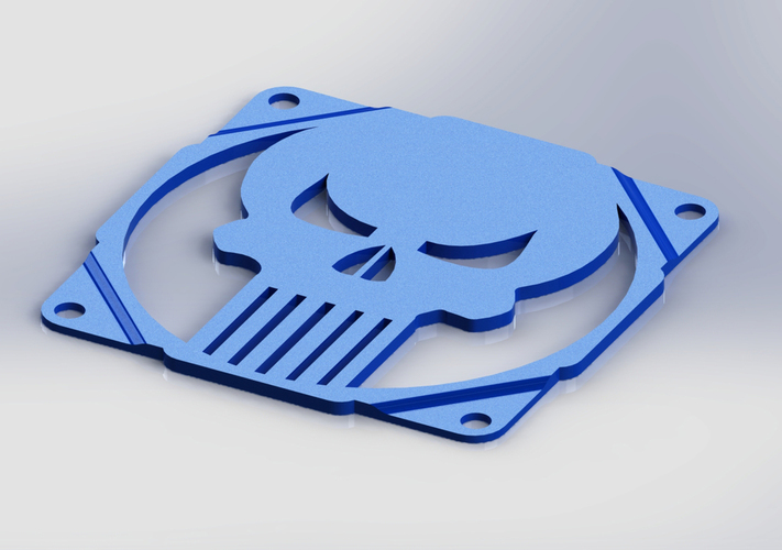 The punisher skull fan grill 120mm - griglia ventola teschio 3D Print 89999