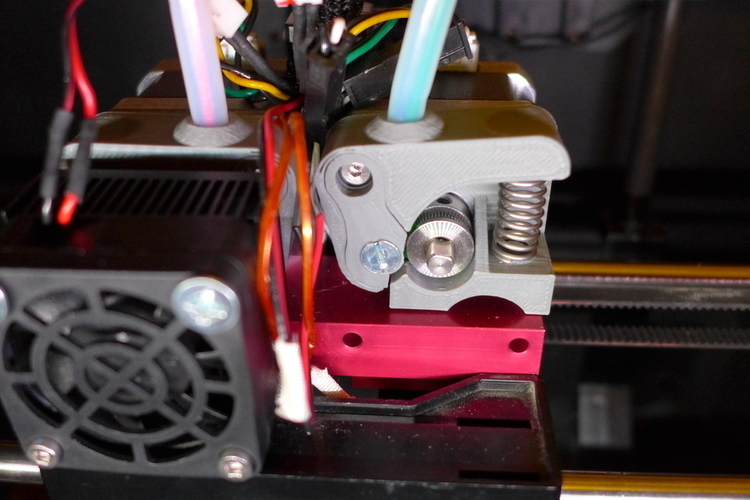 2X Extruder Upgrade for Raffle Alu-Dual Cooling Block 3D Print 90038