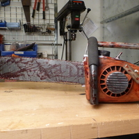 Small Evil Dead Chainsaw Parts 3D Printing 90084