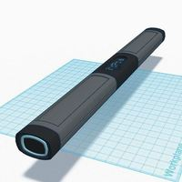Small Tron Legacy Light Cycle Baton 3D Printing 90108