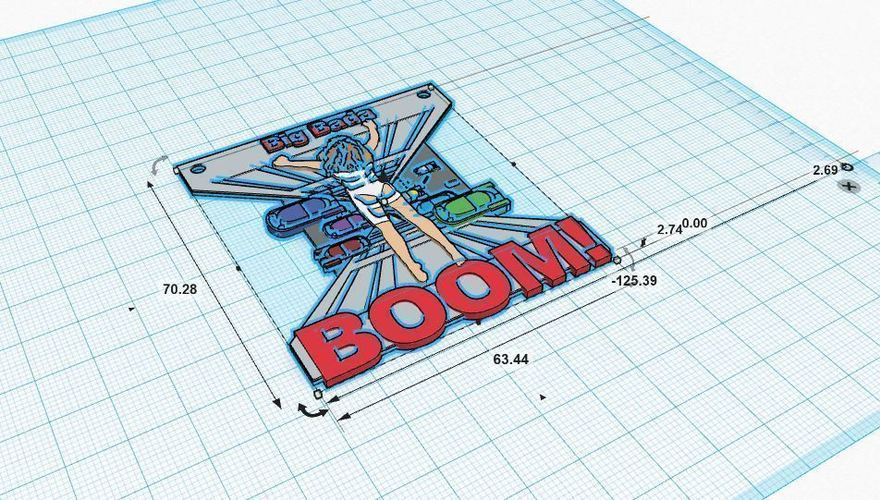 Big Bada BOOM (The Fifth Element) 3D Print 90125