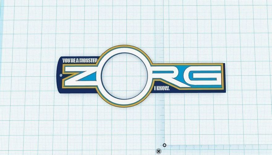 Zorg Keychain/Necklace 3D Print 90126