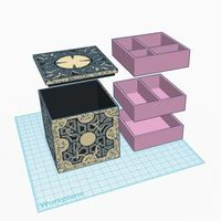 Small Hellraiser Jewelry Box (Lament Configuration) 3D Printing 90134
