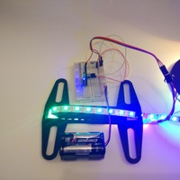 Small Programmable bike wheel led strip 3D Printing 90151