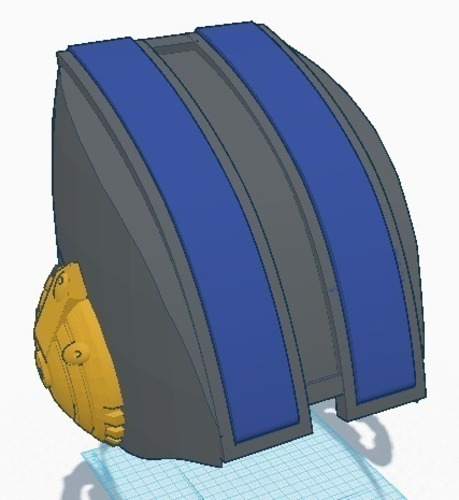 The Fifth Element Police Helmet 3D Print 90163