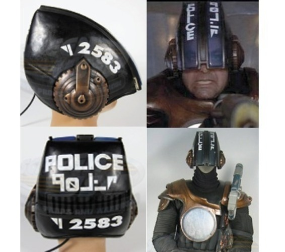 The Fifth Element Police Helmet 3D Print 90165