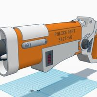 Small The Fifth Element Police Blaster 3D Printing 90174