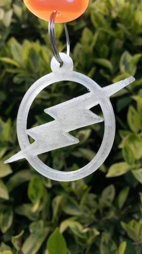 Flash Keychain (remix of thing 571627) 3D Print 90248