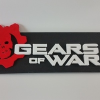 Small Gears of War 4 Logo Plate 3D Printing 90285