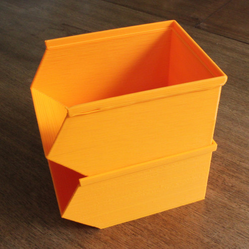 Stackable storage bins or trays for the garage, shed or office 3D Printing 90289