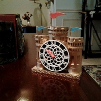 Small Castle Clock 3D Printing 90304