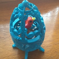 Small Bird in Cage ( Quilling style ) 3D Printing 90345