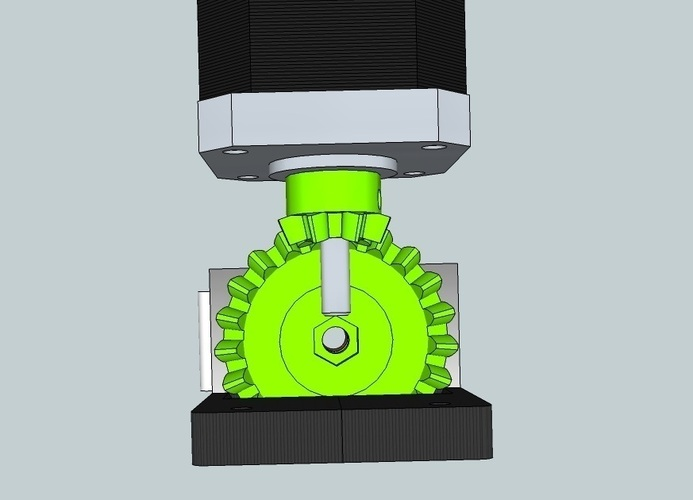 Bevel gear 1:3 for Extruder 3D Print 90375