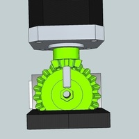 Small Bevel gear 1:3 for Extruder 3D Printing 90375