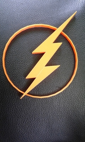 The CW Flash logo 3D Print 90586