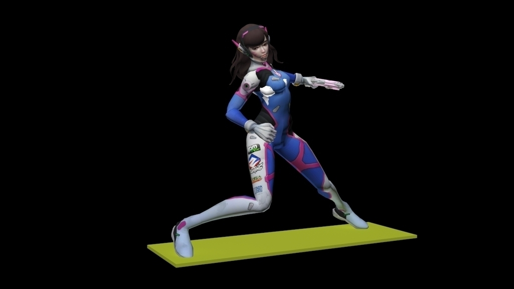 graphic regarding 3d Printable D&d Miniatures identified as 3D Published D.Va - Overwatch by way of powerful Pinshape