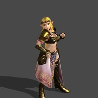 Small Princess Zelda - Hyrule Warriors 3D Printing 90616